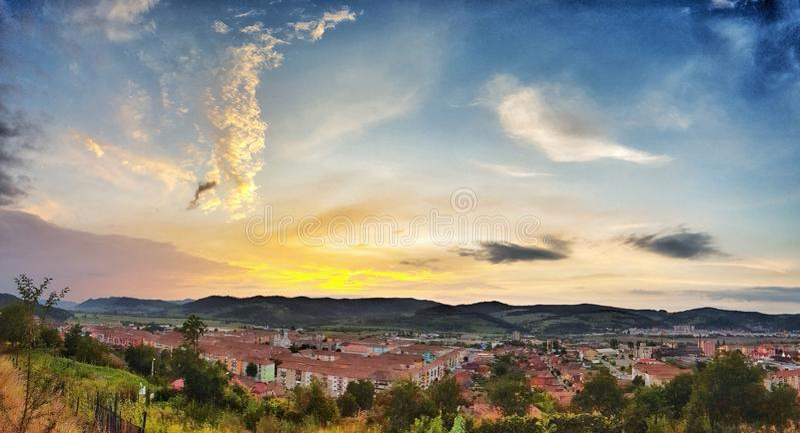 日落的城市 图库摄影
