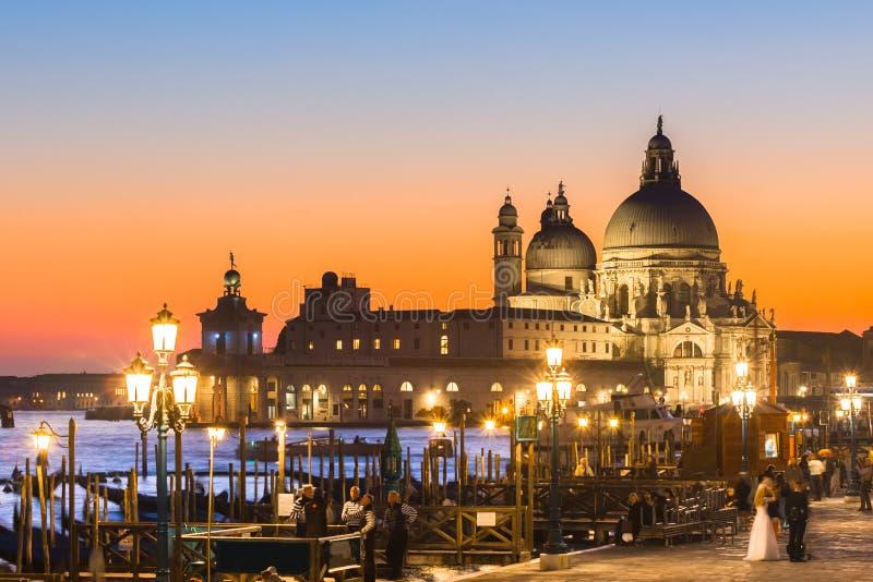 日落的威尼斯 库存图片
