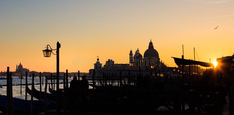 日落的威尼斯 图库摄影