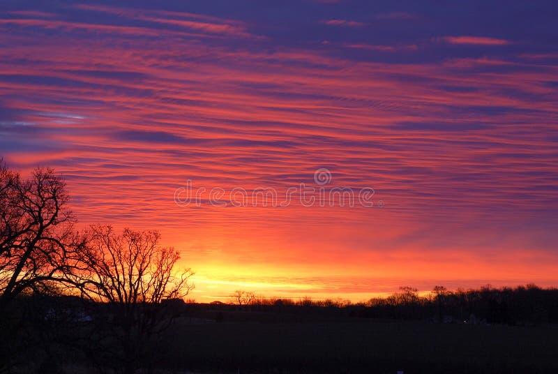 日落的精采颜色 库存图片