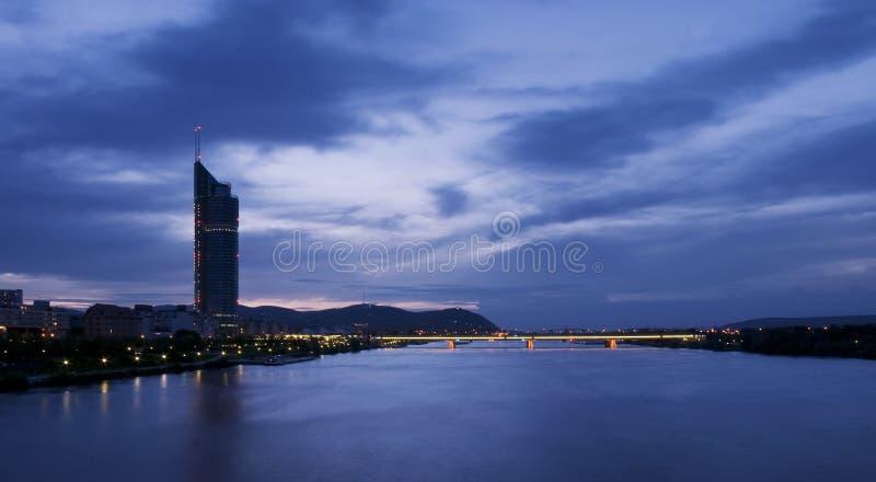 日落的维也纳 库存照片