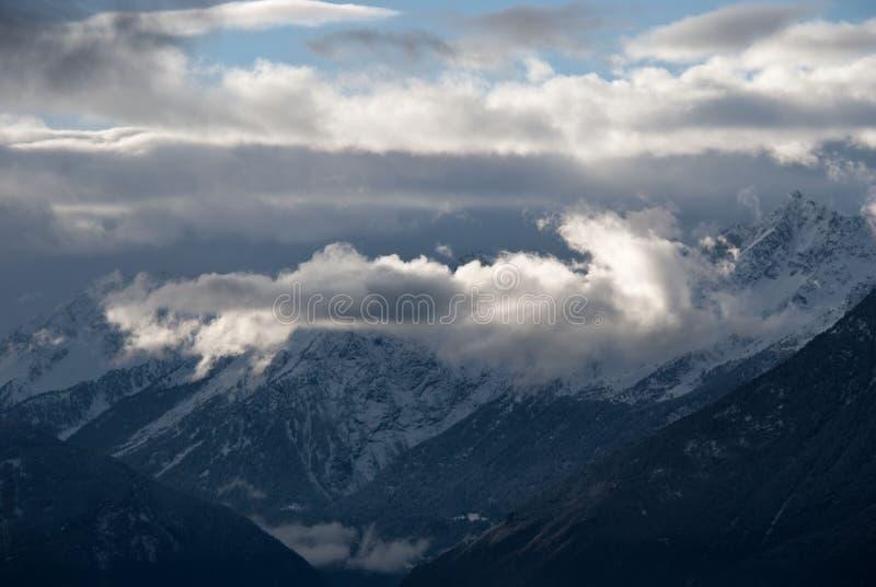 日落的阿尔卑斯 免版税库存照片