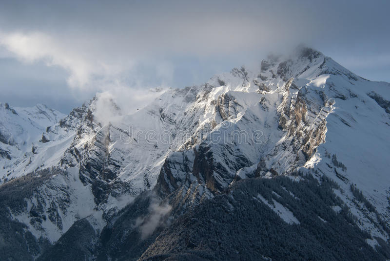 日落的阿尔卑斯 图库摄影