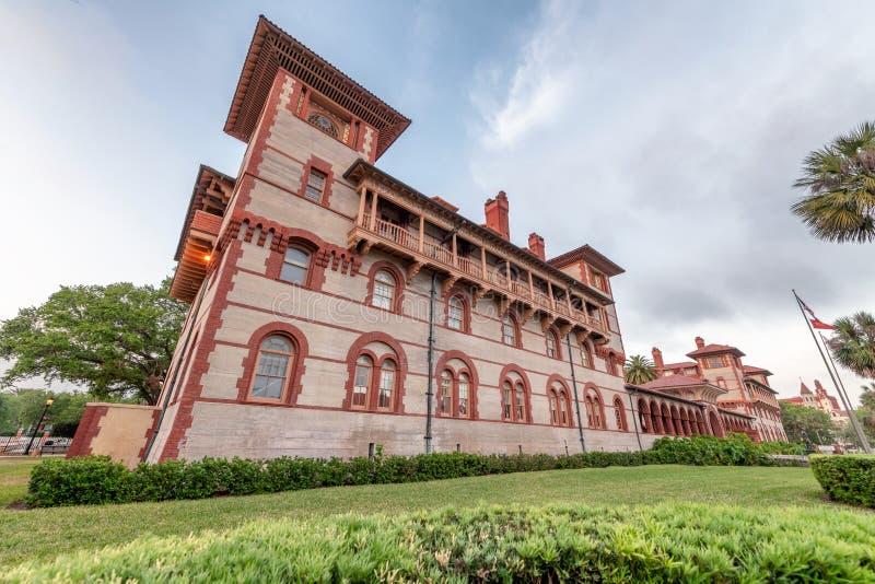 日落的Flagler学院,圣奥斯丁 库存图片