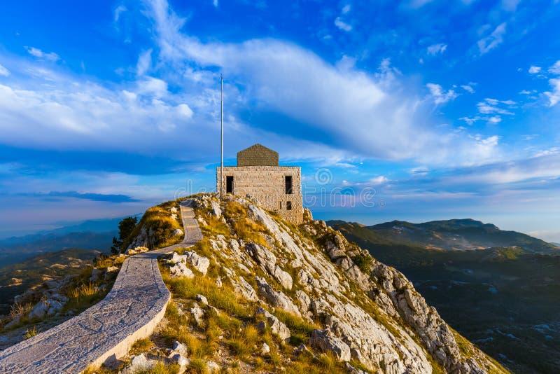 日落的Lovcen山国家公园-黑山 图库摄影