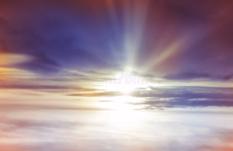 日落背景 图库摄影