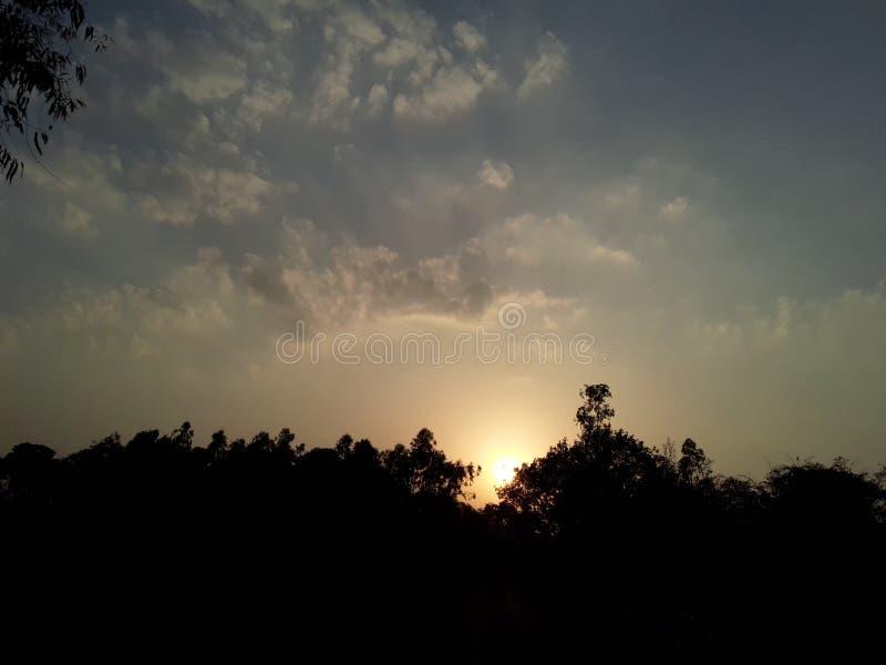 日落自然秀丽 免版税库存照片
