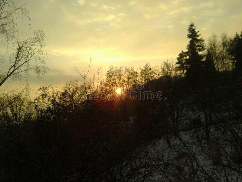 日落视图 库存图片