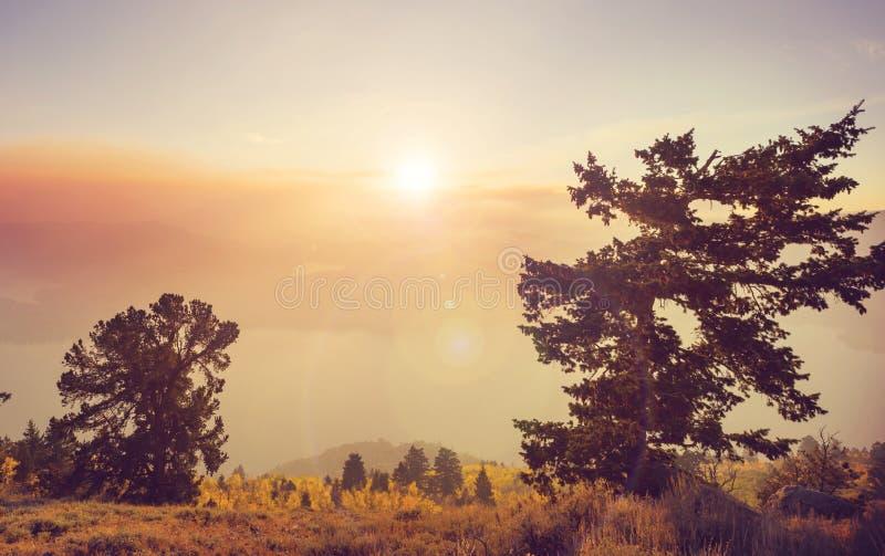日落视图 图库摄影