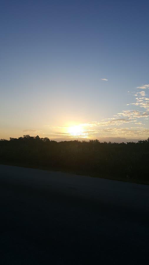 日落降低佛罗里达群岛 免版税图库摄影