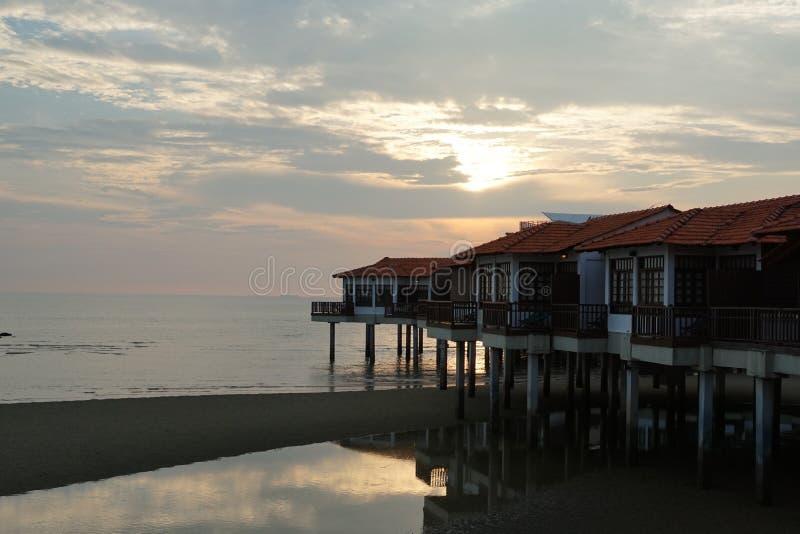 日落风景视图 库存图片