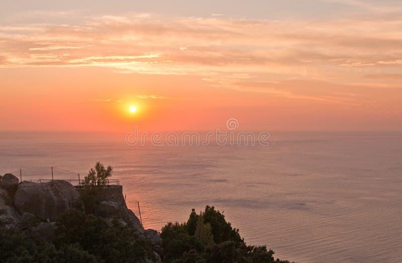 日落风景 库存照片