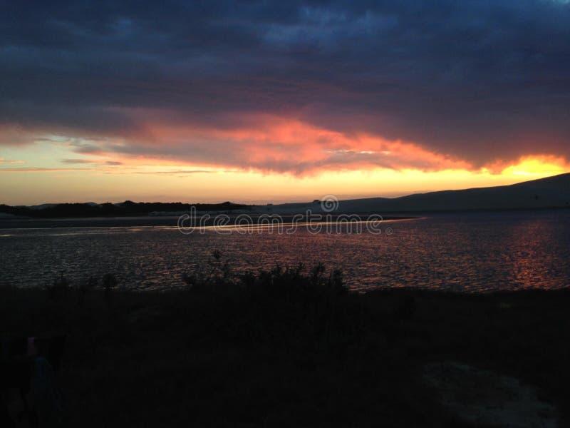 日落,日出,海,水 库存照片