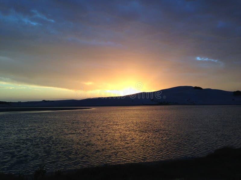 日落,日出,海,水 库存图片