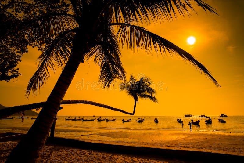 日落,酸值陶,泰国 图库摄影