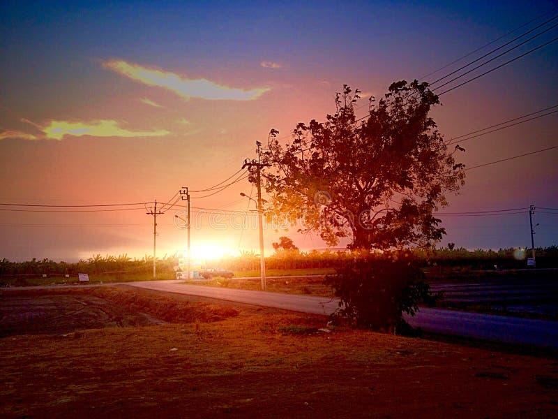 日落 图库摄影