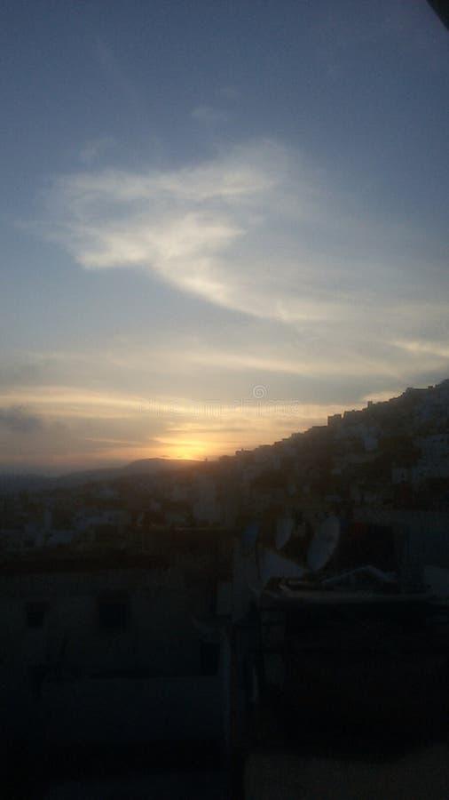 日落3 Tetouan摩洛哥 库存图片