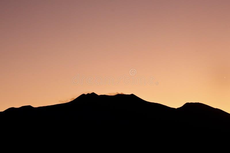 日落Etna 库存照片