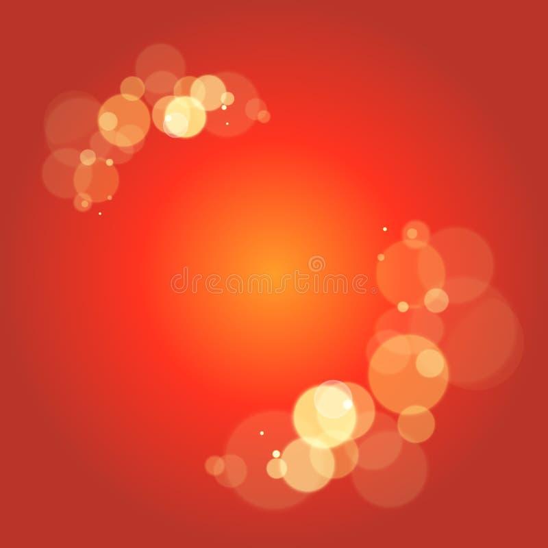 日蚀发生 另外大小太阳闪光反射 占星术的,主题的事件创造性的背景想法 向量例证