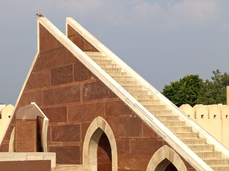 日规台阶在Jantar Mantar观测所的 免版税库存图片