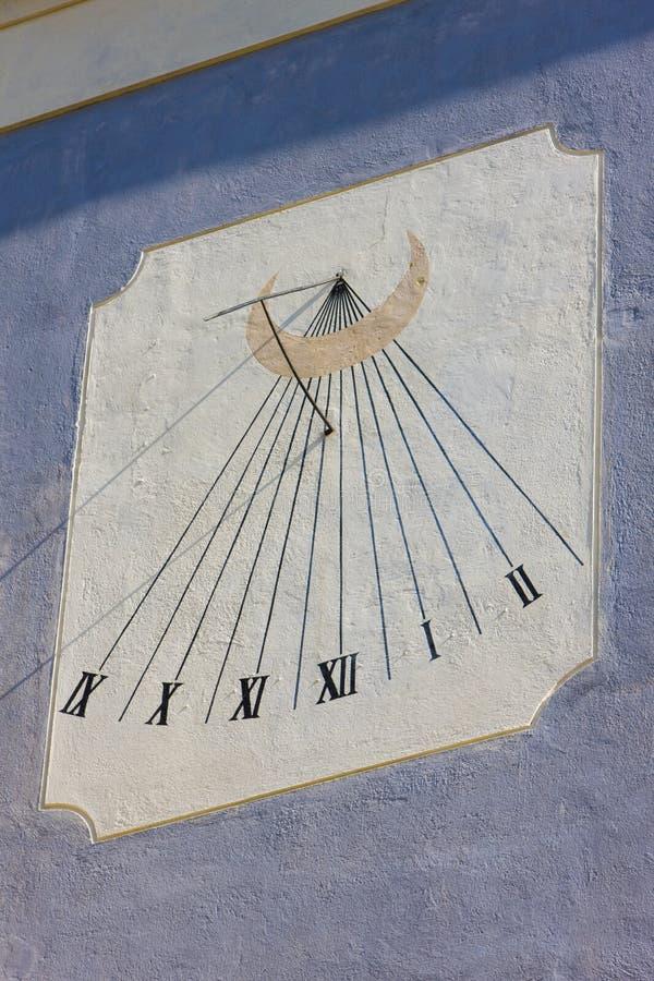 日规时钟,Banska Stiavnica,斯洛伐克 免版税图库摄影