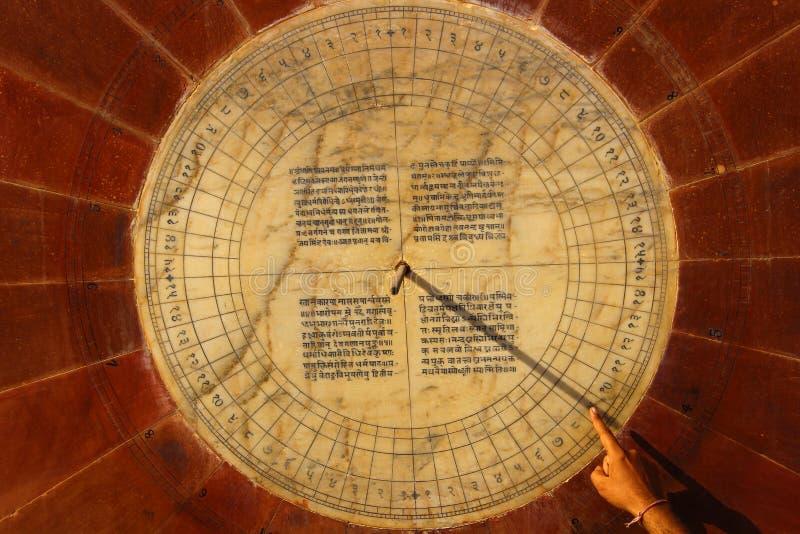 日规, Jantar Mantar,斋浦尔,拉贾斯坦,印度 免版税库存图片