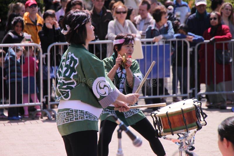 日语的鼓手 免版税库存图片