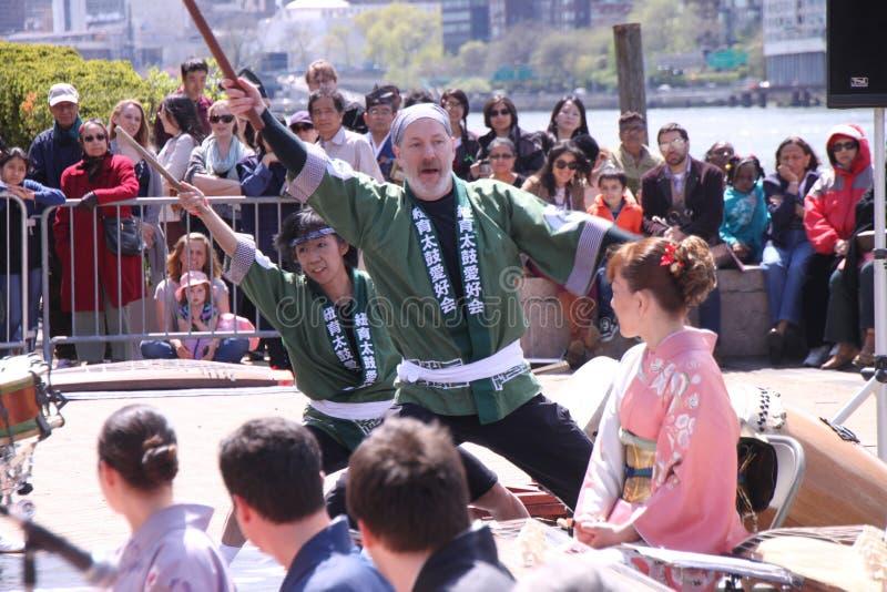 日语的鼓手 免版税图库摄影