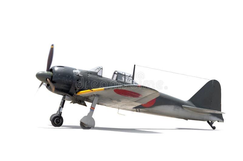 日语调零, WWII战斗机 免版税图库摄影