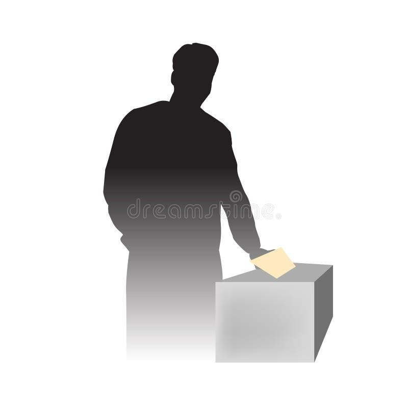 日选择人投票 库存例证