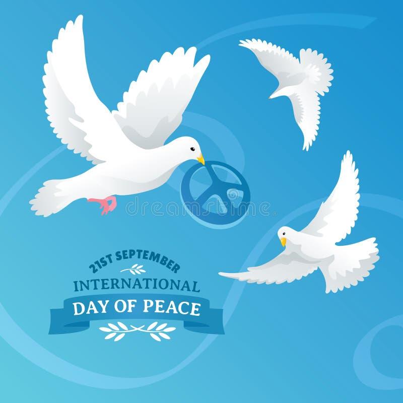 日鸠地球国际和平 向量例证