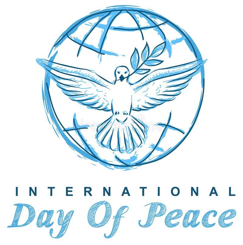 日鸠地球国际和平 皇族释放例证