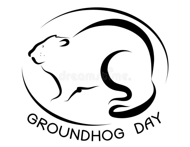日groundhog 皇族释放例证