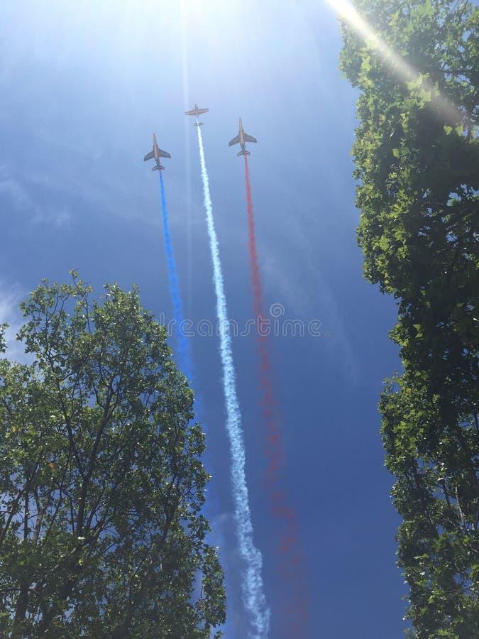 14日juillet 2016年, Patrouille de法国 库存照片
