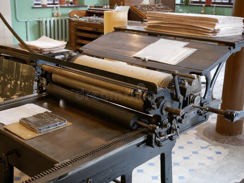 旧书打印机 免版税库存照片