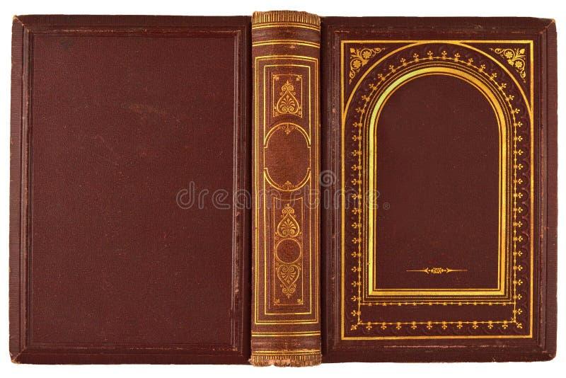 旧书盖子 免版税库存照片