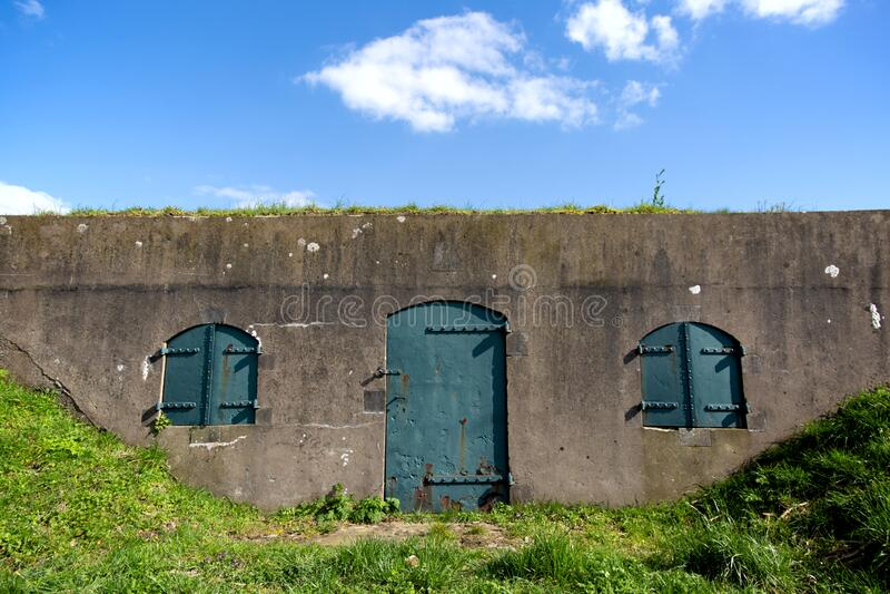 旧军事堡垒细节 免版税图库摄影