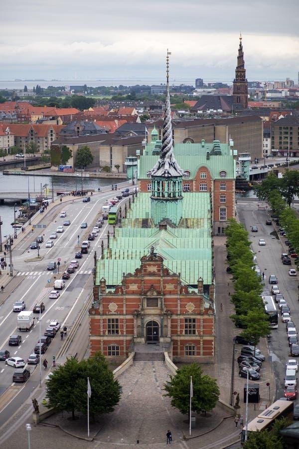 旧库存交换大厦在哥本哈根,丹麦 库存照片