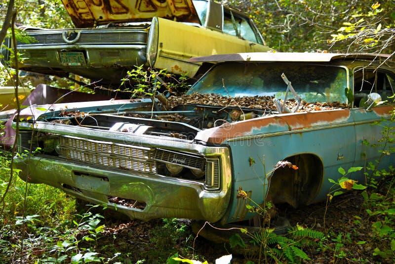 旧废车 免版税库存图片