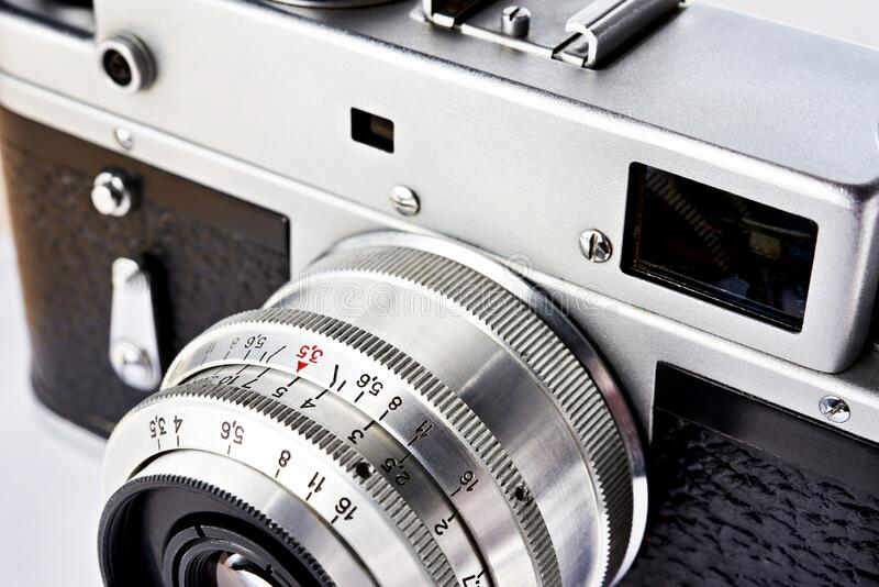 旧式复古测距机 免版税库存照片