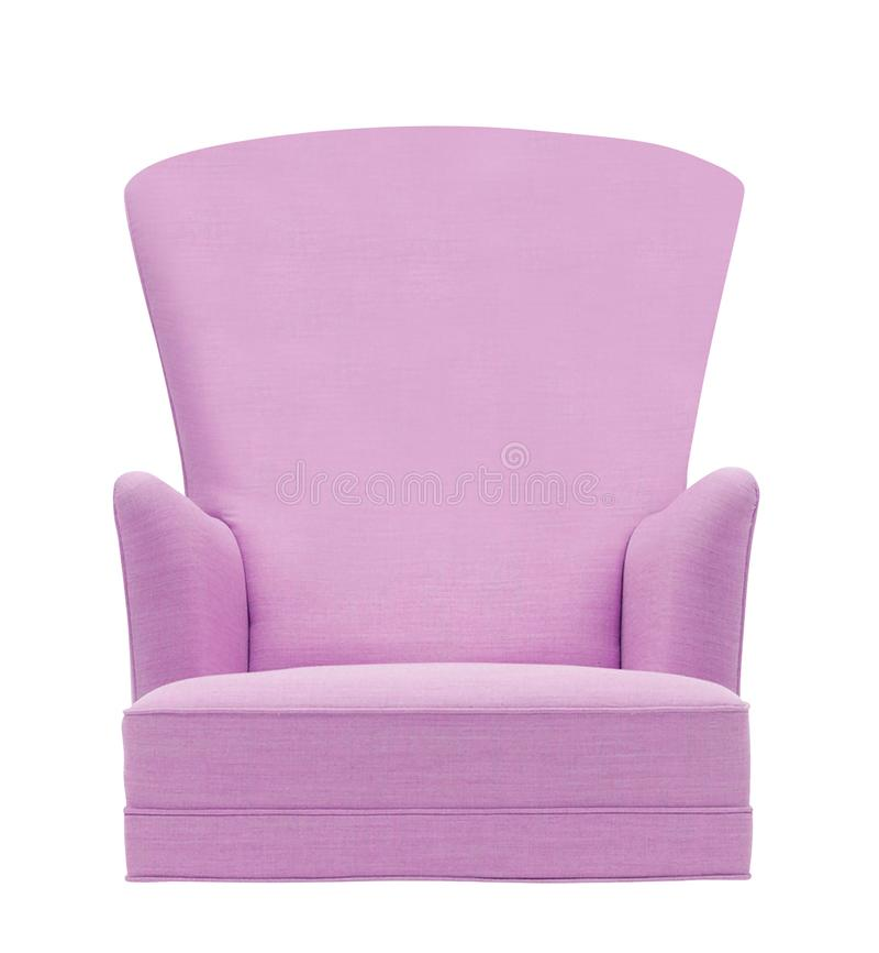 旧式的紫色葡萄酒扶手椅子 免版税库存图片