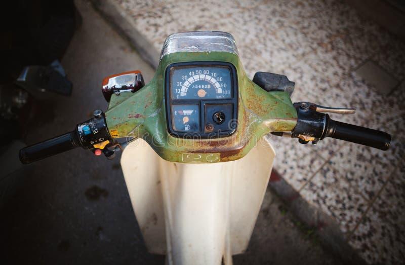 旧摩托车细节 免版税库存照片