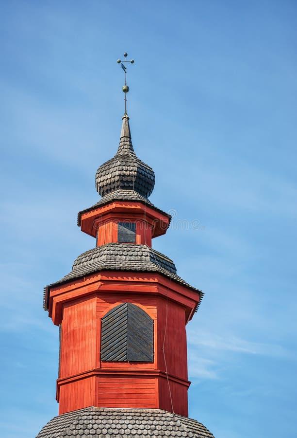 旧教堂钟楼 库存照片