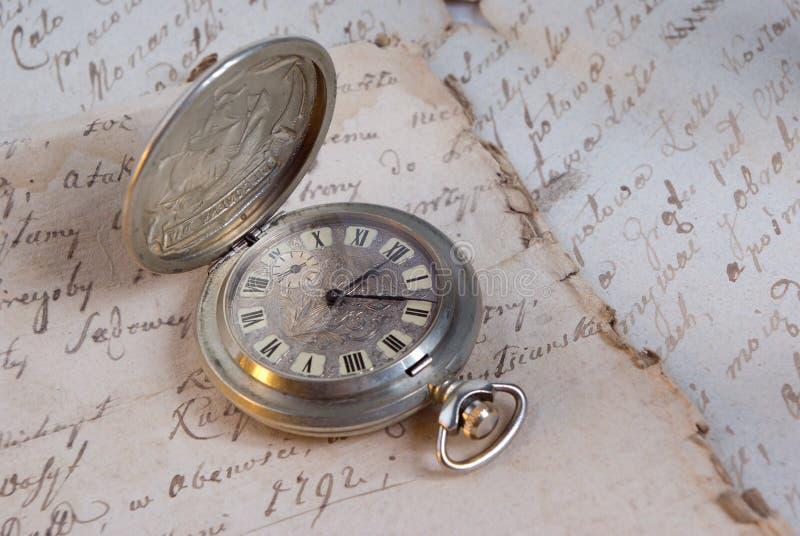 旧时手表 免版税库存图片