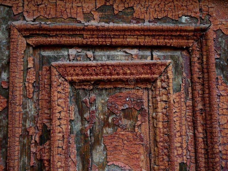 旧木门、结构和细节 免版税库存图片
