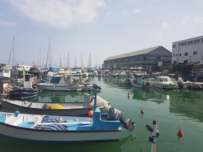 旧港口 库存照片