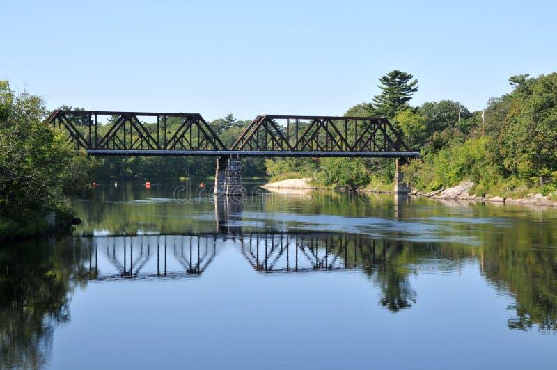旧火车桥 免版税库存照片