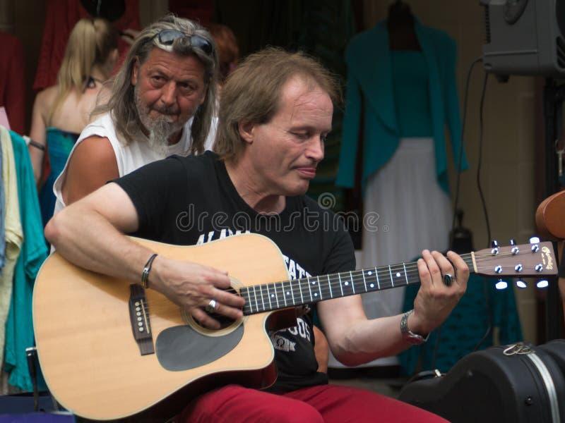 破旧的蓝带音乐会在凯斯特海伊街节日的 免版税库存图片