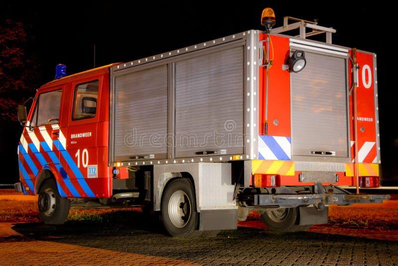 旧红色消防车 免版税库存图片