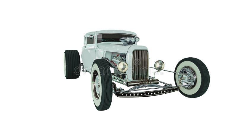旧车改装的高速马力汽车3D回报 免版税库存照片
